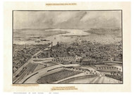 Providence, Rhode Island ca1896 Bird's Eye View