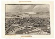 Providence, Rhode Island ca1896 Bird's Eye View
