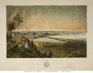 Providence, Rhode Island 1858 Bird's Eye View