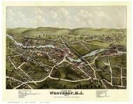 Westerly, Rhode Island 1877 Bird's Eye View