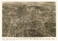 Philadelphia, Pennsylvania 1876 Bird's Eye View - Old Map Reprint - Centennial Expo