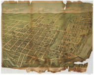 Allentown, Pennsylvania 1879 Bird's Eye View - Old Map Reprint