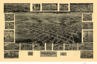 Berlin, Pennsylvania 1905 Bird's Eye View - Old Map Reprint