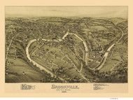 Brookville, Pennsylvania 1895 Bird's Eye View - Old Map Reprint