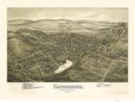 Canonsburg, Pennsylvania 1897 Bird's Eye View - Old Map Reprint
