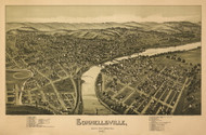 Connellsville, Pennsylvania 1897 Bird's Eye View - Old Map Reprint