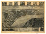 Duncannon, Pennsylvania 1903 Bird's Eye View - Old Map Reprint
