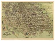 Erie, Pennsylvania 1909 Bird's Eye View - Old Map Reprint