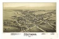 Fleetwood, Pennsylvania 1893 Bird's Eye View - Old Map Reprint