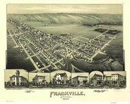Frackville, Pennsylvania 1889 Bird's Eye View - Old Map Reprint