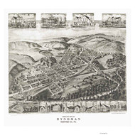 Hyndman, Pennsylvania 1906 Bird's Eye View - Old Map Reprint