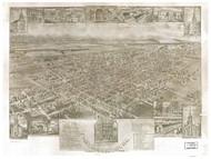 Mechanicsburg, Pennsylvania 1903 Bird's Eye View - Old Map Reprint