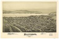 Millersburg, Pennsylvania 1894 Bird's Eye View - Old Map Reprint