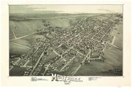 Montrose, Pennsylvania 1890 Bird's Eye View - Old Map Reprint
