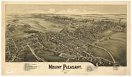 Mount Pleasant, Pennsylvania 1900 Bird's Eye View - Old Map Reprint