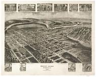 Mount Union, Pennsylvania 1906 Bird's Eye View - Old Map Reprint