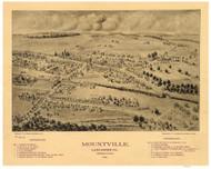 Mountville, Pennsylvania 1894 Bird's Eye View - Old Map Reprint