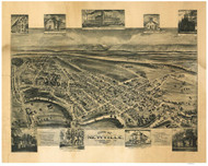 Newville, Pennsylvania 1903 Bird's Eye View - Old Map Reprint