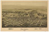 Pen Argyl, Pennsylvania 1894 Bird's Eye View - Old Map Reprint