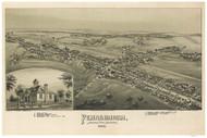 Pennsburg, Pennsylvania 1894 Bird's Eye View - Old Map Reprint