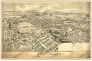 Providence, Pennsylvania 1892 Bird's Eye View - Old Map Reprint