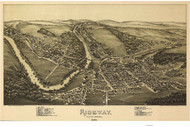 Ridgway, Pennsylvania 1895 Bird's Eye View - Old Map Reprint