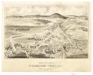 Sinking Spring, Pennsylvania 1898 Bird's Eye View - Old Map Reprint