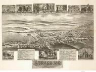 Strasburg, Pennsylvania 1903 Bird's Eye View - Old Map Reprint