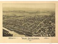West Bethlehem Township, Pennsylvania 1894 Bird's Eye View - Old Map Reprint