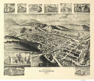 Williamsburg, Pennsylvania 1906 Bird's Eye View - Old Map Reprint