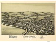 Wrightsville, Pennsylvania 1894 Bird's Eye View - Old Map Reprint