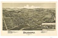 Zeleinople, Pennsylvania 1901 Bird's Eye View - Old Map Reprint