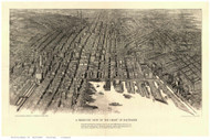 Baltimore, Maryland 1912 Bird's Eye View