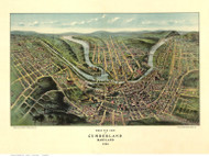 Cumberland, Maryland 1906 Bird's Eye View