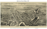 Elkton, Maryland 1907 Custom Bird's Eye View
