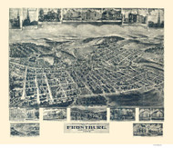Frostburg, Maryland 1905 Bird's Eye View