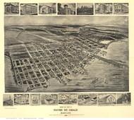 Havre De Grace, Maryland 1907 Bird's Eye View