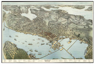Seattle, Washington 1891 Bird's Eye View
