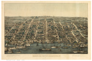 Alexandria, Virginia 1863 Bird's Eye View