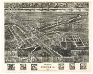 Emporia, Virginia 1907 Bird's Eye View
