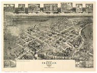 Franklin, Virginia 1907 Bird's Eye View