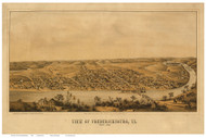 Fredericksburg, Virginia 1862 Bird's Eye View