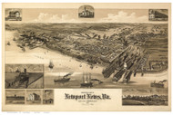 Newport News, Virginia 1891 Bird's Eye View