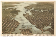 Norfolk, Virginia 1873 Bird's Eye View