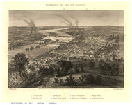 Richmond, Virginia 1863 Bird's Eye View