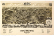 Staunton, Virginia 1892 Bird's Eye View