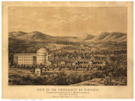 University of Virginia, Virginia 1856 Bird's Eye View