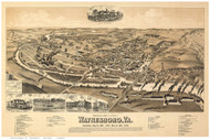 Waynesboro, Virginia 1891 Bird's Eye View