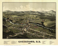 Goffstown, New Hampshire 1887 Bird's Eye View - Old Map Reprint