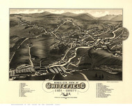 Whitefield, New Hampshire 1883 Bird's Eye View - Old Map Reprint